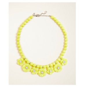 Ann Taylor | resin flower statement necklace